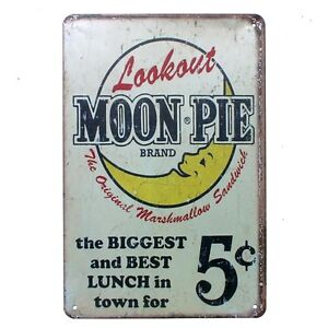 Metal Tin Sign look out moon pie Pub Home Vintage Retro Poster Cafe ART