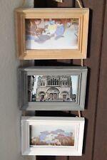 Cadre photo suspension triptyque 10x15 corde bois déco vintage Vide Neuf France