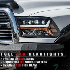 Topline For 2009-2018 Dodge Ram Full LED Sequential Projector Headlights - Black