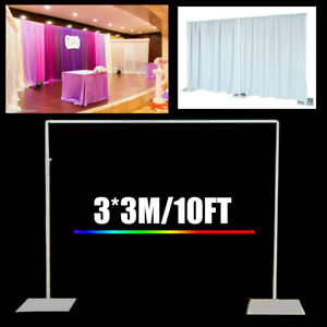 3x3M Sturdy Metal Wedding Background Support Stand Curtain Photo Frame Tool