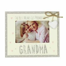 Vintage Wooden Promoted To Grandma Sentiment Photo Frame Gift FW555GM