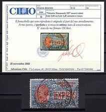 REGNO 1924 Espresso soprastampato 1,60L USATO Certificato