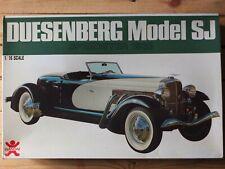 BANDAI 8027 - DUESENBERG MODEL SJ SPEEDSTER 1933 - VERY RARE 1/16 KIT