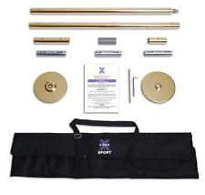 XPOLE SPORT 45mm Titanium Static Dance & Exercise X Pole Set w/ Carry Bag NEW NS