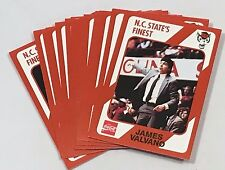 1989 North Carolina State Wolfpack Collegiate Collection Cards Lot 16 Valvano