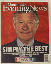 ALEX FERGUSON MANCHESTER EVENING NEWS 48 PAGE SOUVENIR TRIBUTE 2013  MAN UTD FC