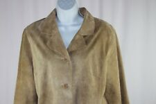 Brandon Thomas Womens Size Large Light Brown Suede Leather Lined Jacket