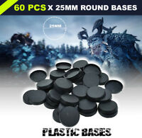 [60pcs 25mm] Round Bases For Miniatures Figures Wargame Bases Warhammer Game