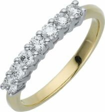 Eternity Stone Yellow Gold Filled Costume Rings