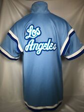 RETRO Los Angeles Lakers Hardwood Classics Blue Warm Up Jersey Shirt Mens LARGE