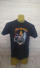 "W-""Hog Heaven"" Alaska Motorcycles/skull Black T Shirt - Size Large"