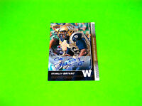 STANLEY BRYANT WINNIPEG BLUE BOMBERS AUTOGRAPHED 2015 UPPER DECK FOOTBALL CARD