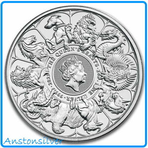 **PRE-SALE** 2021 Great Britain 2oz Silver Queen's Beasts Completer ENCAPSULATED