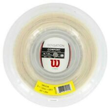 Wilson sensation 16ga.multifilament tennis string reel 660ft, Nat., soft string