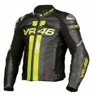 Valentino Rossi VR46 Motorbike Racing Leather Jacket Bike Racing Leather Jacket