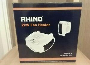 Set of 3 Brand New Rhino 2kw Fan Heater RRP £12.98 Each