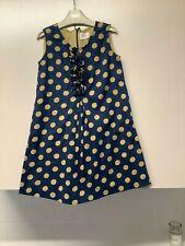 Mini Boden Blue Spotty Cotton Dress 5-6 Years
