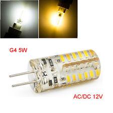 10X G4 5W 48 LED Silicone Lampe AC DC12V 3014 SMD à maïs Spot Ampoule Cool White