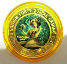 2019 Happy Halloween Four Queens Gold cap Yellow Cap $40 Silver Strike Token