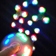 LED light UP Fidget Hand Spinner Torqbar Finger Toys EDC Focus Tool Ball Stuffer