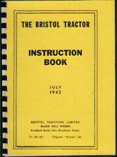 1943 Bristol Crawler Tractor Instruction Book Manual