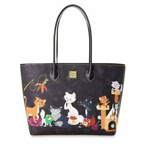 2020 Disney Dooney & Bourke Reigning Cats & Dogs Cat Pattern Tote NEW IN PLASTIC
