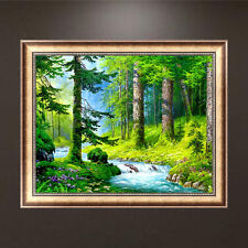Green Forest 5D Full Diamond Embroidery Painting DIY Cross Stitch Home Decor