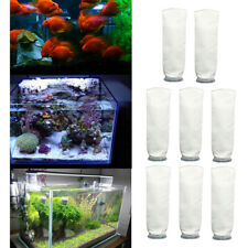 8Pack 200um Aquarium Marine Sump Fish Tank Mesh Filter Sock Bag Suck Replacement