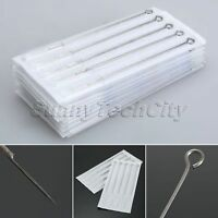 10/50pcs Stainless Steel 5RL Tattoo Needles Body Art Disposable Sterile Blade