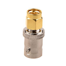 New Gold Tone Metal SMA Male to Silver Tone BNC Female Connector Adapter AD