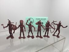 Marx 3 1/2 Inch Indians Playset Plastic Figures Reissue.