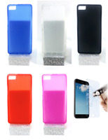"Case Cover Gel TPU Silicone For BQ Aquaris M4.5 (4G) 4.5"" + Optional Protector"