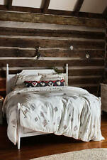 Anthropologie EMBROIDERED PALERMO Queen Duvet Cover & Two Standard Shams NEW