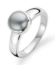 New Genuine Ti Sento Sterling Silver Grey Pearl set ring 1731PG Size 56 £65