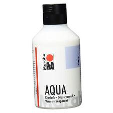 Marabu Acryl Lack Klarlack AQUA 250 ml auf Wasserbasis Bastelarbeiten Servietten