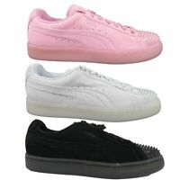 Puma Women's Suede Jelly Spiked Toe Cap Trainers Lace Up Shoes