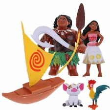 5Pcs/set Moana Princess Maui Waialik Heihei PVC Movie Action Figures Toy