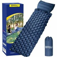 Sleeping Inflatable Air Pad Mat Mattress With Pillow Outdoor Camping Hiking Bed