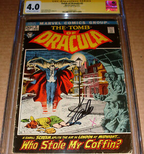 Tomb of Dracula #2 CGC SS SIGNED Stan Lee Marvel 1972 Gene Colan art Severin cvr