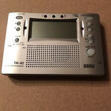 Korg Digital Tuner Metronome TM-40