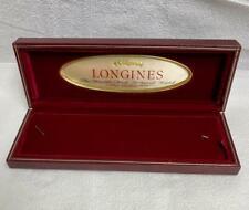 Authentic Longines Empty Watch Box Burgundy LL-2