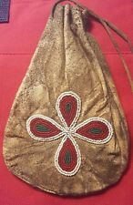 """Native American 7"""" Beaded Pouch - Double Sided"""