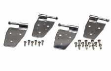 Door Hinge Set Stainless Steel 4 Piece Jeep Wrangler TJ 1997-2006 Kentrol 30525