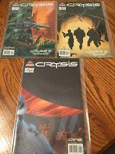 Comic Books (9) - IDW, DC Comics - Crysis, Fallen Angel. Engine Head, FX, Others