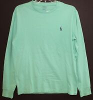 Polo Ralph Lauren Mens Green L/S Crewneck T-Shirt NWT Size S