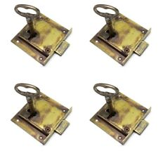 4 recessed lock cupboard solid brass key door old style polished 6 cm watson1904