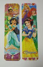 Disney Princesses 2pcs Cardboard Bookmarks 6.5'' lenght (16cm).