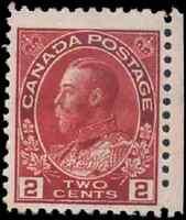 Canada #106 mint F-VF OG HR 1917-1922 King George V 2c carmine Admiral CV$25.00