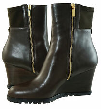 Michael Kors Womens Aileen Wedge Bootie Pull On Zipper Stretch Ankle Boots