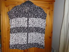 Black and ivory floral semi sheer summer blouse top, ATMOSPHERE, size 18, NEW